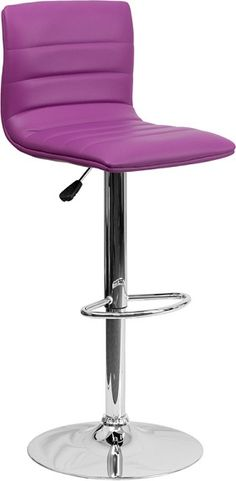 Striped Bar Stool in Purple with Chrome Base only $62.32 at http://www.thebestdealsonline.com/
