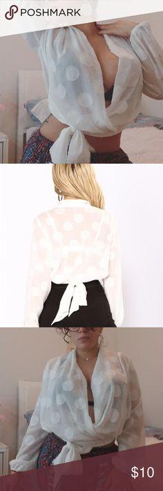 253c03ef56b8 Polkadot top  fashionnova  polkadottop original price  27.99  neverworn  Perfect cute blouse for brunch