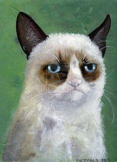 Tard the grumpy cat Print by Filosof-Linda on deviantART