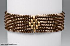 Simple bracelets made from Czech PRECIOSA Twin™ two-hole seed beads | Preciosa Ornela