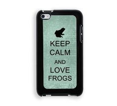 Keep Calm And Love Frogs Teal Floral iPod Touch 4 Case - For iPod Touch 4
