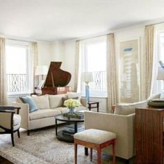 Elegant and simple decor of Michael J. Fox's living room by Gomez Associates. (Image via Architectural Digest)