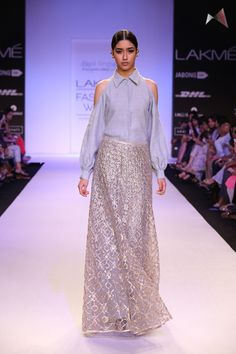 Payal Singhal embraces the ice queen theme  for this breathtakingly beautiful ensemble.
