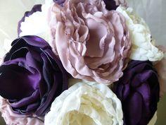 Fabric Flower Wedding Bouque... from FleurDeLisJoanMarie on Wanelo