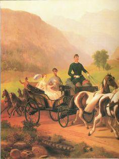 Empress Elisabeth and emperor Franz Joseph in Bad Ischl