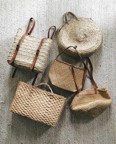 "pureandsimpleblog: ""Can never have enough basket bags. Photo via Amanda Nolan Booker. """