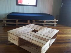 #Upcycled #Pallet Crate Coffee #Table + Sofa - 12 DIY Creative Wood Pallet Ideas | 99 Pallets
