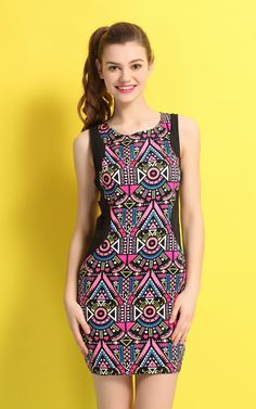 2014 summer new women's sleeveless dress Slim pencil DRESS