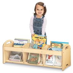Jonti-Craft Toddler See-Thru Book Browser. See-thru panels encourage independent toddlers to do it themselves. Three partitions just the right height for books or toys. Toddler Bookcase, Kids Bookcase, Preschool Cubbies, Preschool Literacy, Early Literacy, Woodworking Software, Book Storage, Book Shelves, Montessori Materials