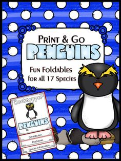 Literally, you can just print and pass these penguin foldables out to your students. I have a website with links to all 17 species of penguins. Students click on the links, learn, take notes and then fill in the foldable, and wallah! They have done a research project.that was fun and looked cool.