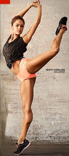 Misty Copeland: First African American Principle Ballerina of the American Ballet Theater American Ballet Theatre, Ballet Theater, Misty Copeland, Yoga, Weight Lifting, Estilo Fitness, Dance Movement, Michelle Lewin, Lets Dance