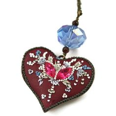 iceflower heart  pendant by ChiliCrab on Etsy