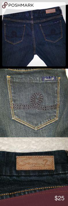 "Seven7 boot cut jeans Seven7 boot cut jeans, Size 31, 99% cotton 1% spandex. 41"" length, 33"" Inseam. Seven7 Jeans Boot Cut"