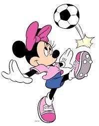minnie mouse playing soccer coloring pages - Google Search