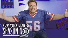 New York Giants Fans | Season in 60 Seconds A New York Giants fan struggles with the ups and downs of Eli the need to beat the Cowboys above all else and the fact that NO ONE can ever replace LT. Your Team's Season in 60 Seconds: Watch fans of NFL teams experience all the ups downs and in-betweens of their teams' seasons in 60 seconds. -NY Jets: https://youtu.be/O4v-LERq_iE -Seattle Seahawks: https://youtu.be/TkjGS3AnIA4 -LA Rams: https://youtu.be/u_cGWBI1i6c -Dallas Cowboys…