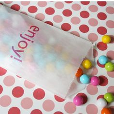 printable glassine bags. perfect for wedding/party favors!