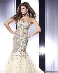 2013 New Arrival Sparkly Sweetheart Sequined Prom Dresses Mermaid Evening Dresses Long With Crystals MD198 $179.00