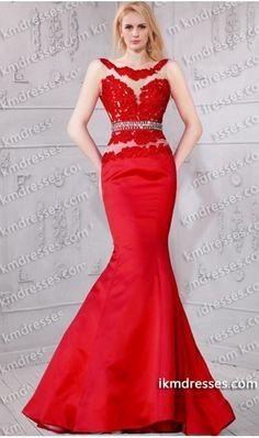 http://www.ikmdresses.com/exciting-beaded-sheer-bateau-neckline-lace-applique-mermaid-dress-p60676