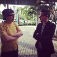Con Pedro Guerra.  19 de mayo de 2012.  San Jua, Puerto Rico.