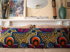 BODY Lounge Pillow African Wax Print Various Prints by OSxN