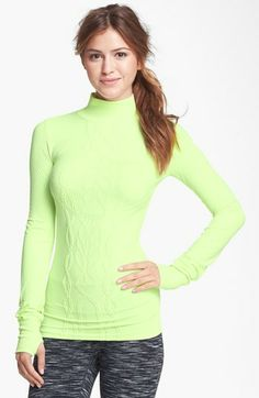 Zella Seamless Cable Training Top available at #Nordstrom