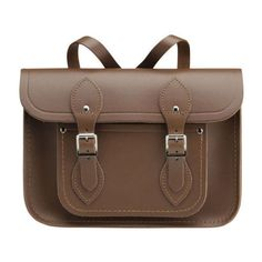 The Cambridge Satchel Company 11 Inch Leather Satchel Backpack -... ($105) ❤ liked on Polyvore featuring bags, backpacks, purses, backpack, brown leather satchel, satchel handbags, leather rucksack and leather satchel handbags