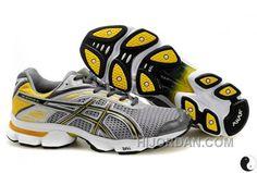703c6eddf6a Asics Gel Stratus 2 1 Shoes Dark Grey Silver Yellow For Men