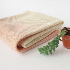 Whole Concept Hand-Dyed WOLI Wool Knitted Baby Blanket In Pink | Scandi Mini