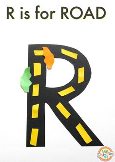 R Is For Road. Letter R Craft...