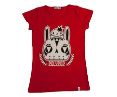 Bunny womens tee available at www.ilovepolypop.com