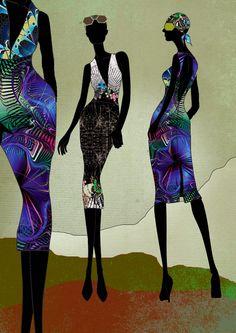 Modern Love Illustrations by sarah arnett, via Behance