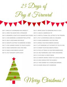 It's the season of giving! Make this Christmas the year to pay it forward with this 25 day challenge. Are you ready to give back this holiday season?