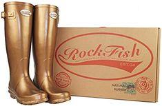 6325f24d86b Rockfish Metallic Tall Golden UK3  Amazon.co.uk  Shoes   Bags