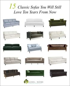 15 Favorite Classic Sofas + Some of My Top Sources