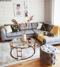 Living room furniture ♥ Home decoration online Boho Chic Living Room, New Living Room, Living Room Sofa, Home And Living, Living Room Furniture, Living Room Decor, Pink Home Decor, Diy Room Decor, Living Room Inspiration