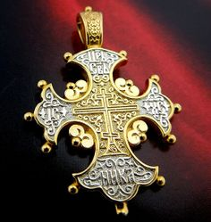 """Authentic Reversible Russian Icon  Cross with Blessing"""" Save and Sustain  Us"""". (LOVE THIS!)"""