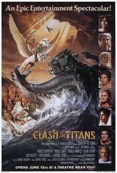 ✿ Clash of the Titans 1981 original with Harrry Hamlin and a huge cast was remade in 2010