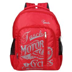 Capacity: 28 L, H X W X D: 19 X 13 X 7 inch. Number of Compartments: 3 Compartments. Care: Wipe with a clean, dry cloth when needed College Bags, Class Design, North Face Backpack, Duffel Bag, School Bags, Other Accessories, Luggage Bags, Color Red, Pouch