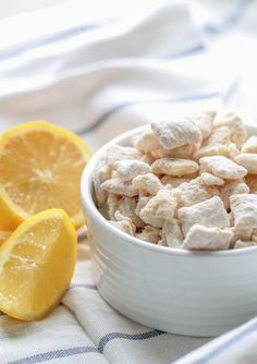 This Lemon Chex Mix is the perfect snack food for any occasion. They only require a few simple ingredients! Lemon Muddy Buddies, Muddy Buddies Recipe, Fun Easy Recipes, Quick Easy Meals, Yummy Recipes, Lemon Recipes, Healthy Recipes, Chex Mix Recipes