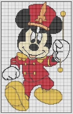 Cross stitch *<3* mickey