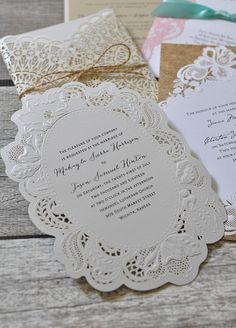 Drool-worthy lace wedding invitation styles  dawninvites Lace Wedding  Invitations cf6432bb39