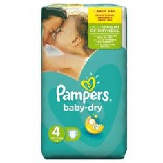 Pack de 44 Couches Pampers Baby Dry taille 4 sur Les Looloos