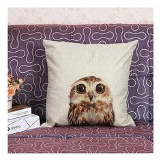 Snuggle up with this cute #owl pillow! Sure to brighten up any room in the house. #WishApp