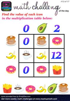 Challenge Math Worksheets are You Ready for 17 Awesome New Math Challenges — Mashup Math Math Tutor, Teaching Math, Games For Grade 1, Middle School Grades, Math Challenge, Daily Math, Printable Math Worksheets, Math About Me, Maths Puzzles