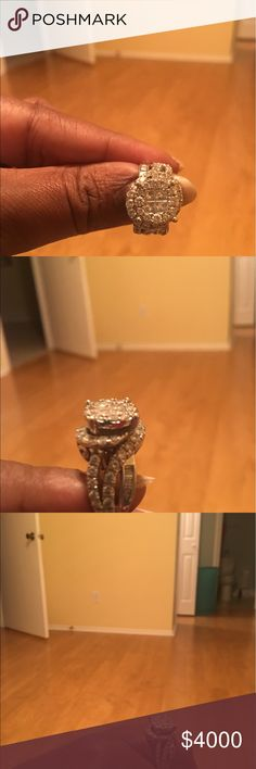 3 karat Diamond engagement Lest than a year  S-I H S-I H quality life time coverage! He bought it for $6300.00!!!! Selling under half price! 14K White gold! Jewelry Rings
