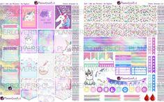 """I Love Unicorns"" free printable planner sticker set"