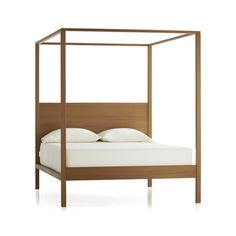 Stage the bedroom with the subtle drama of our freshly reimagined poster bed. Elevated open cube adds geometric intrigue