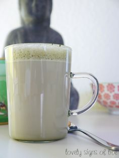 The creamiest matcha latte ever - ideal awakener in the morning or pick me up for the afternoon :)
