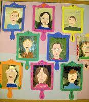 portraits on a 'mirror'