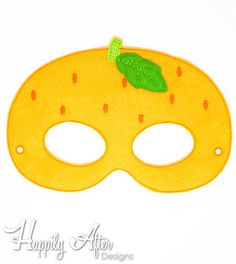 Orange mask in the hoop embroidery design to stitch out a great costume mask with! Load this in the hoop mask embroidery design into your embroidery machine and stitch it out entirely in the hoop from start to finish! Dinosaur Mask, Printable Masks, Orange Paper, Paper Mask, Embroidery Scissors, Animal Masks, Cute Costumes, Portfolio, Printable Coloring